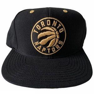 RARE - Toronto Raptors Black & Gold Hat Unisex